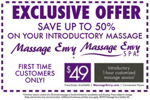 National Massage Envy Coupon Example