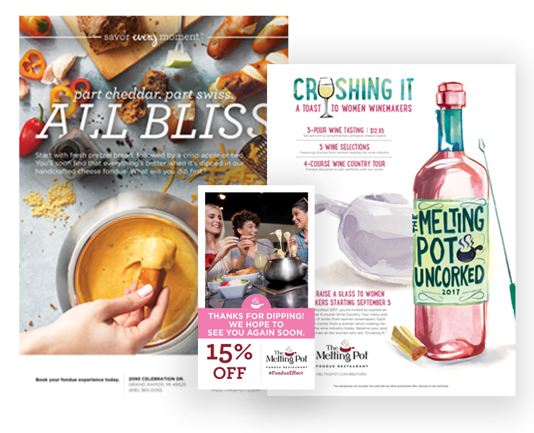 Melting Pot Print Collateral