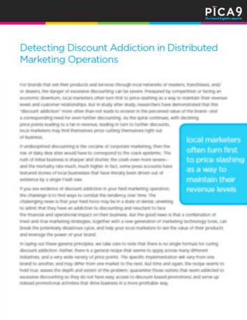 Detecting Discount Addiction